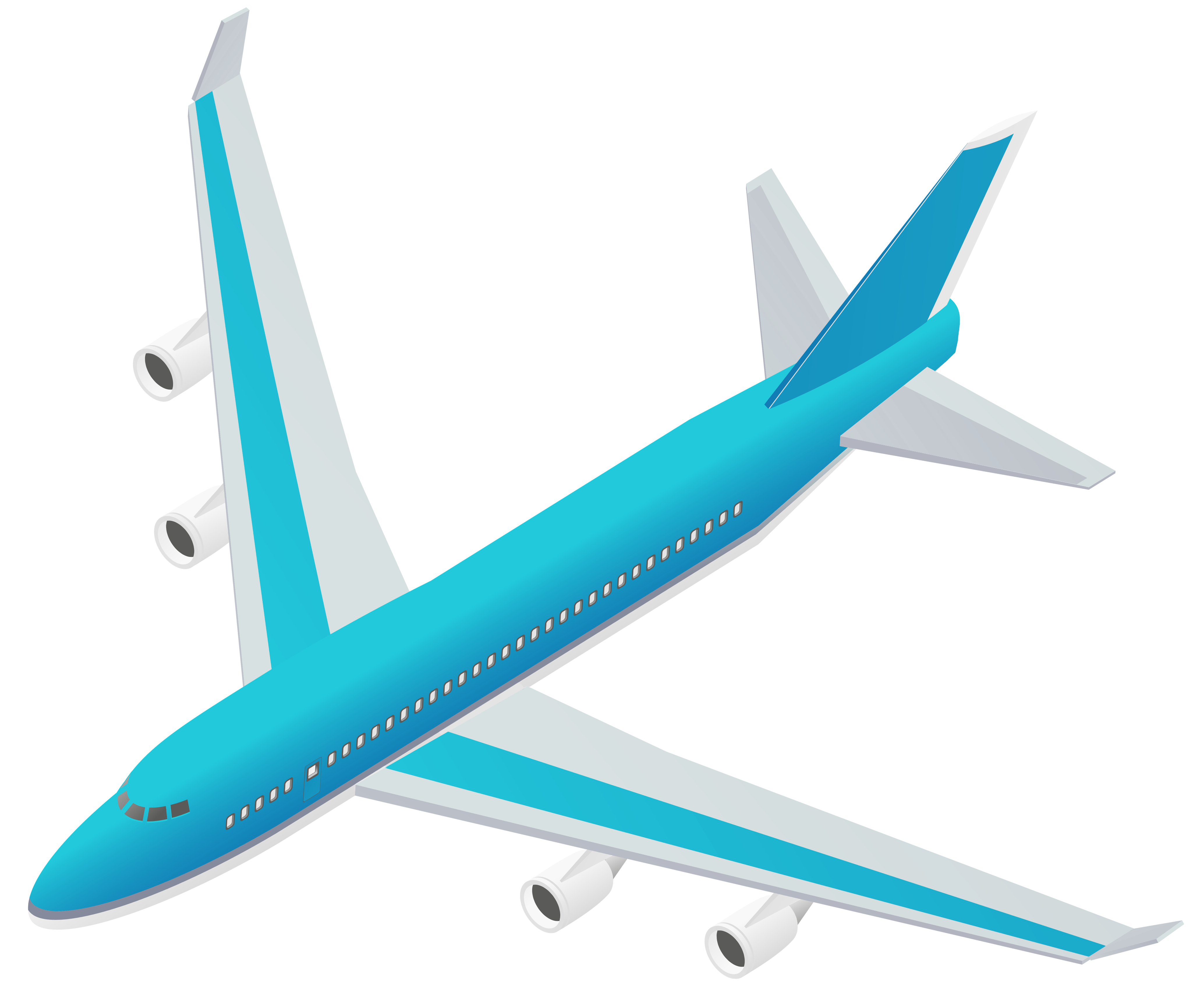 Vector blueprint airplane. Clipart free in adobe