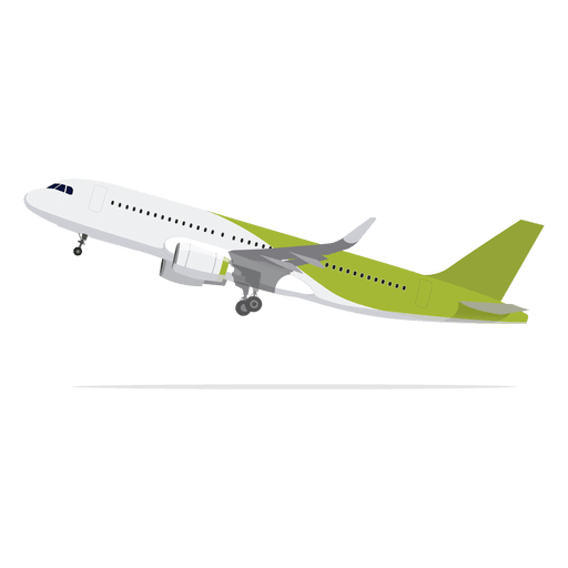 Aircraft vector infographic. Airplane lifting off transparent