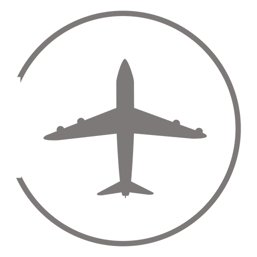 Plane svg icon transparent background. Airplane circle png vector
