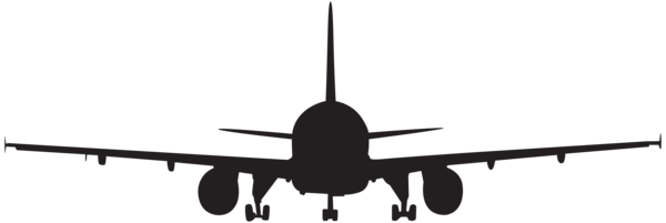 Aircraft vector instrument. Airplane silhouette clip art