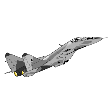 Aircraft vector jet plane. Us air force fighter