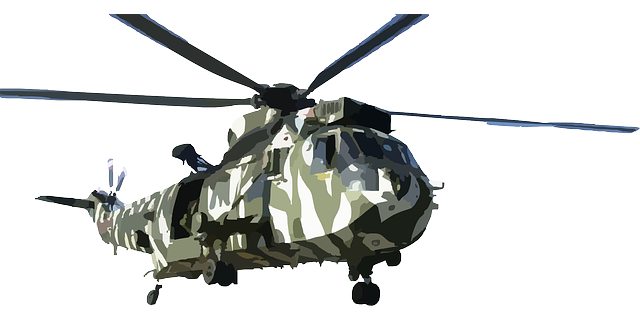 Aircraft vector military helicopter. Photo by clker free