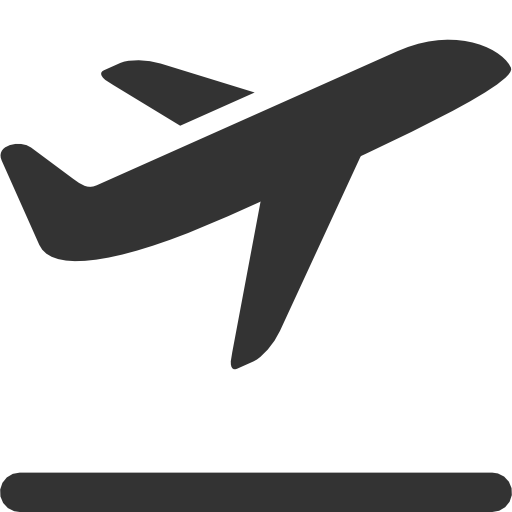 Aircraft vector outline. Airplane icon page