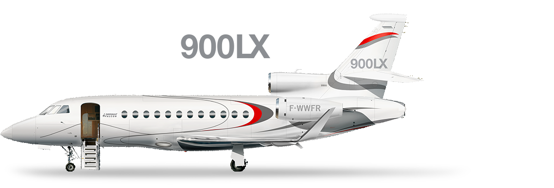 Drawing airplane private jet. Dassault falcon was the