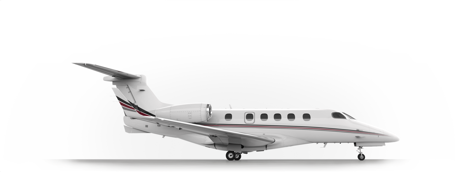Aircraft vector trail. Netjets private jets ownership