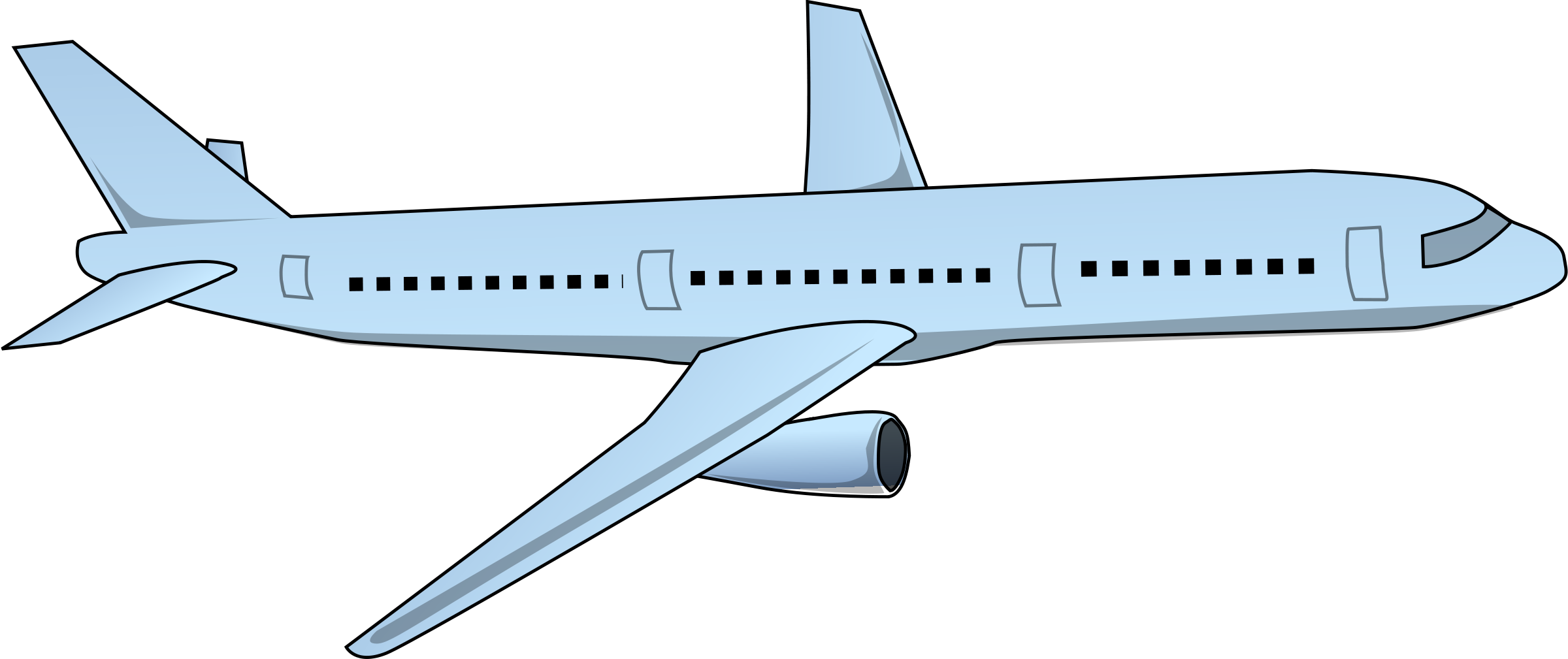 Aircraft vector trail. Airplane clipart no background