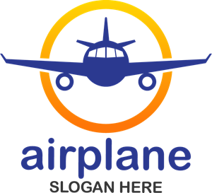 Aircraft vector vintage. Travel and transport logo