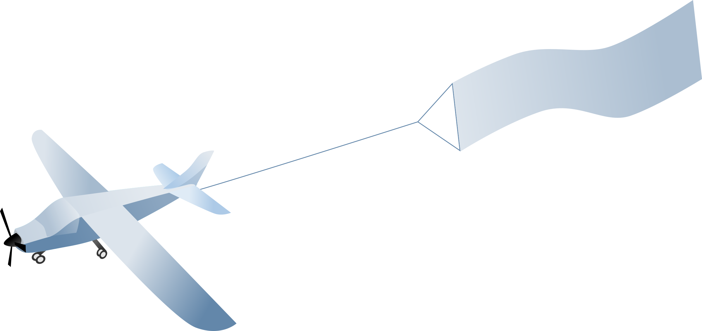 Airplane banner png. Clipart with big image