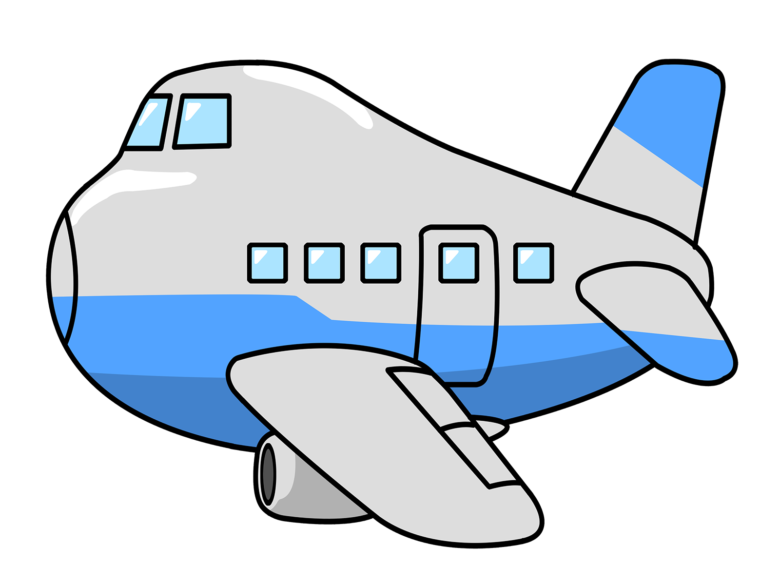 Drawing airplane kid. Use this clip art