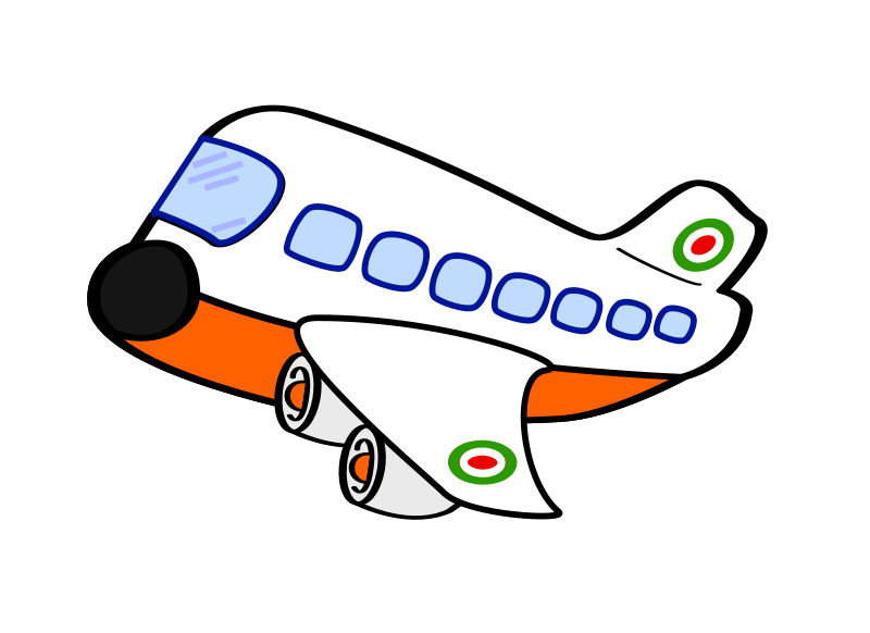 Airplane clip art. Cartoon clipart panda free