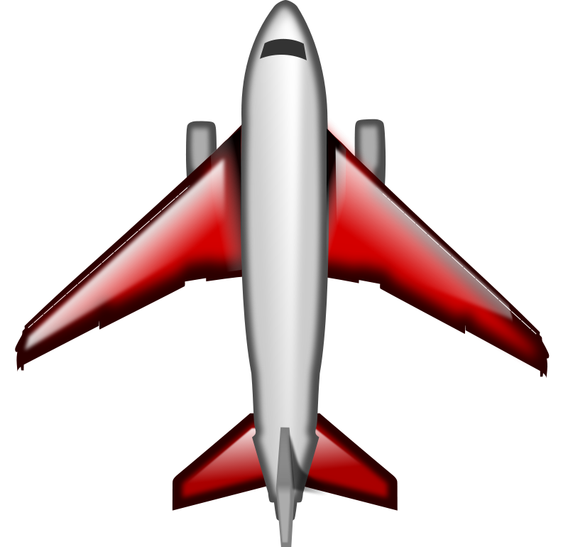 Airplane clip commercial. Image of air plane