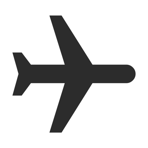 Airplane clip flight ticket. Paper plane icon png