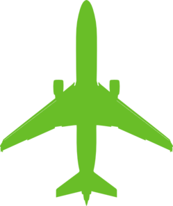 Airplane clip green. Plane art at clker