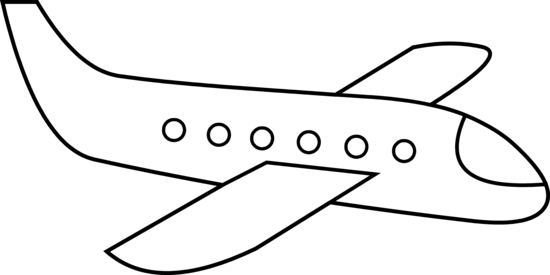 Airplane clip line. Simple clipart