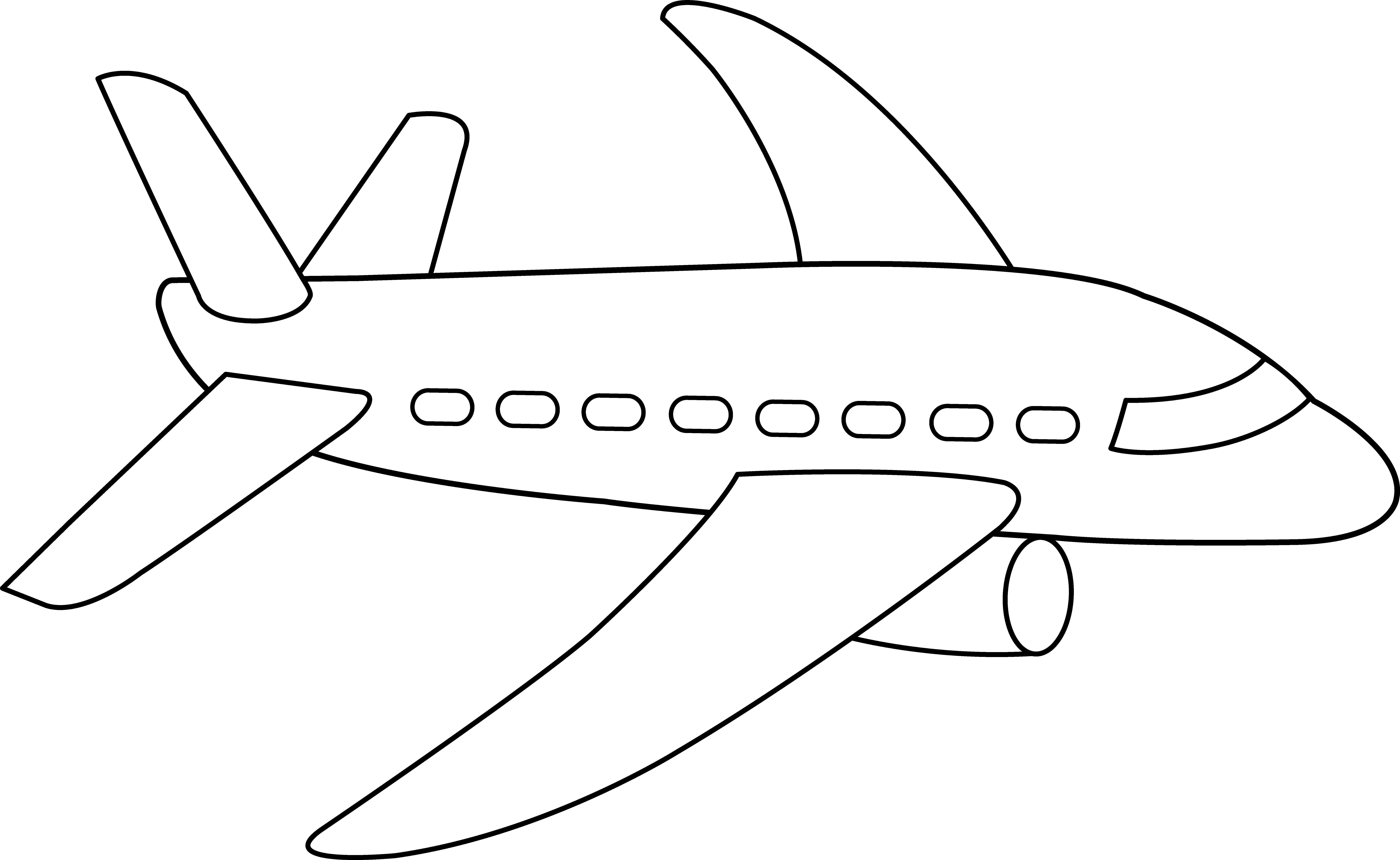 Drawing airplane printable. Coloring page free clip