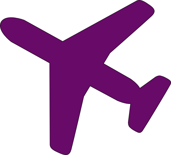 Aircraft vector airplane clipart. Purple clip art at