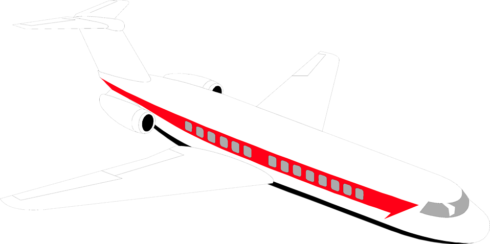 Airplane clip passenger plane. Free stock photo illustration