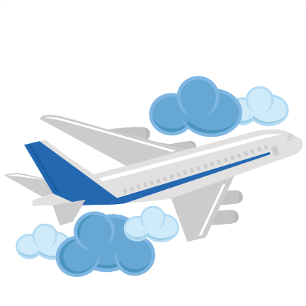 Airplane clip vacation. Svg cutting files for