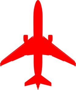 Red airplane. Plane clip art at