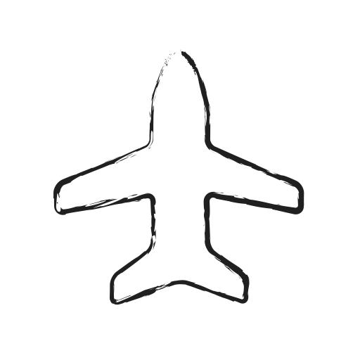 Airplane doodle png. Social messaging productivity by