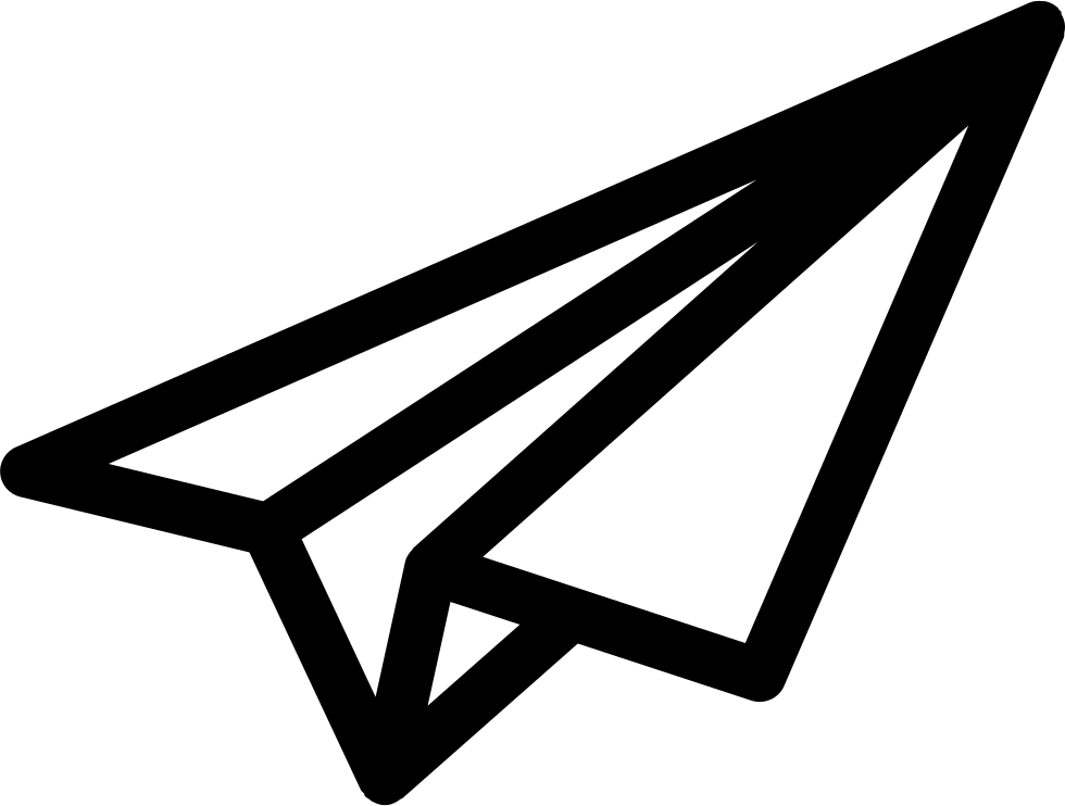 Airplane outline png. Paper svg icon free