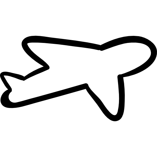 Airplane outline png. Free transport icons icon