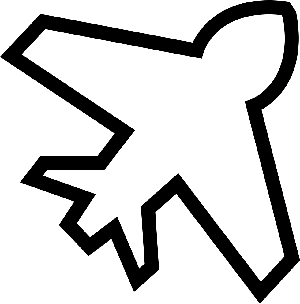 Sketch svg outline. Airplane png icon free
