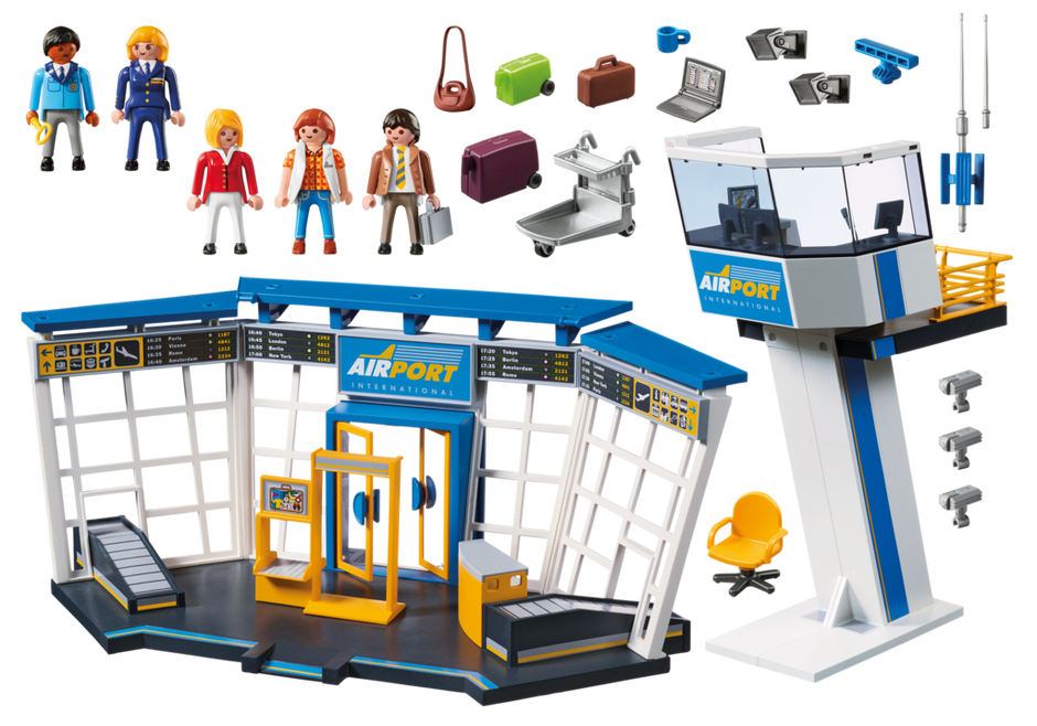 Airport clipart airport tower. With control playmobil usa