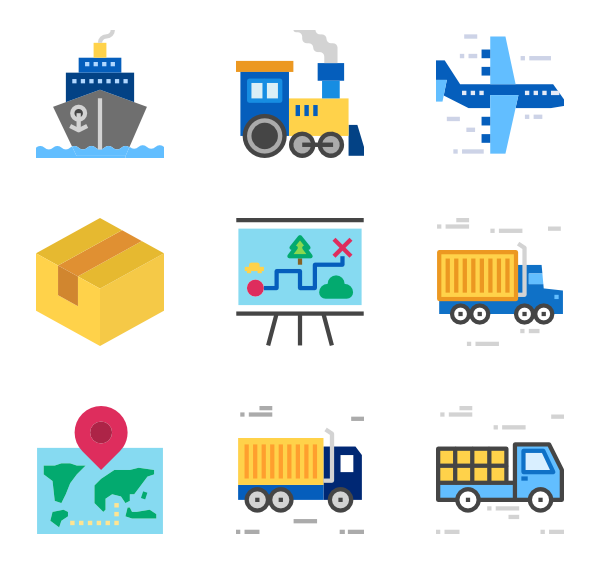 Airport baggage icons free