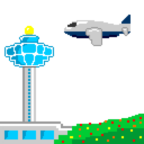 Airport vector isometric. Icons changi