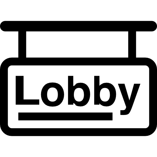 Lobby sign icons free