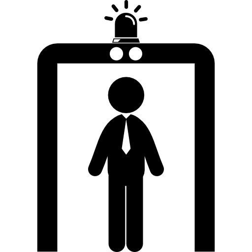 Airport vector people. Security portal icons free