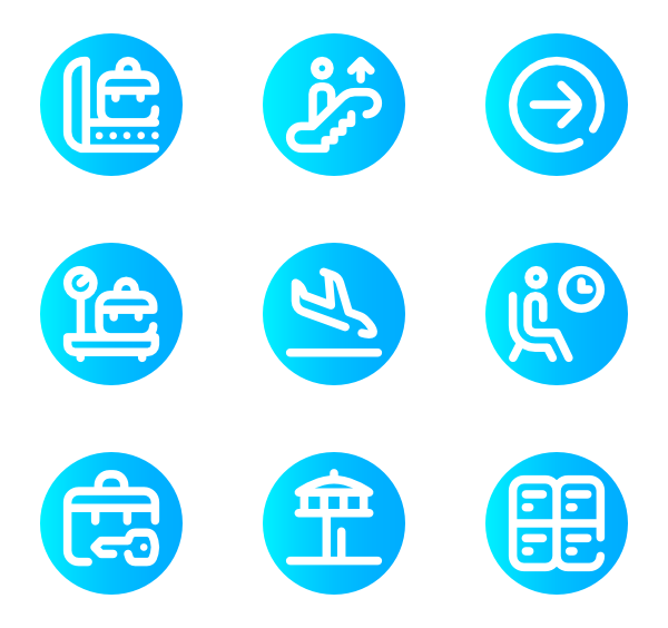 Airport vector terminal. Icons free