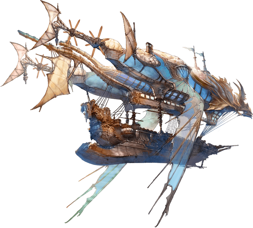 Zeppelin drawing airship. Granblue fantasy air ship