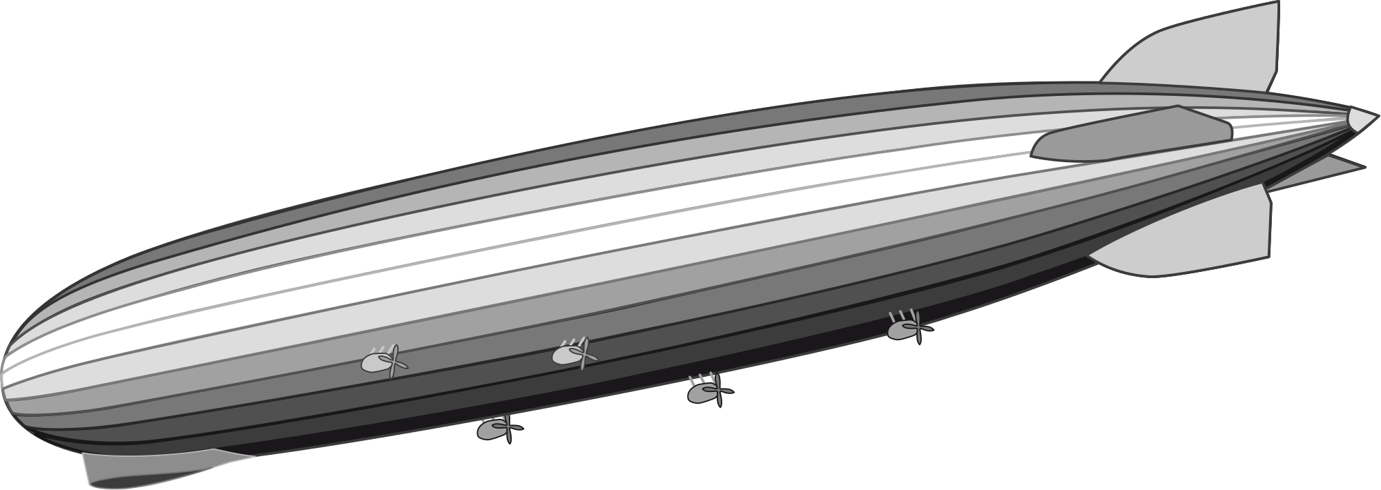 Zeppelin drawing airship. File lz svg wikimedia