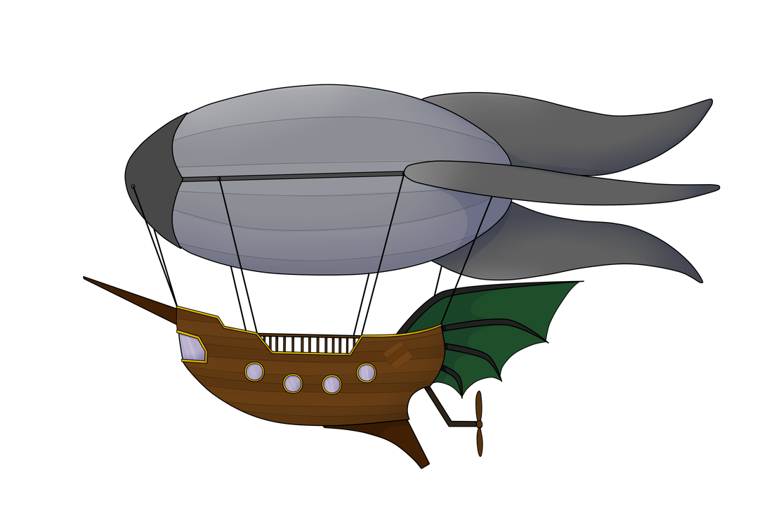 Airship drawing old. By j artthings on