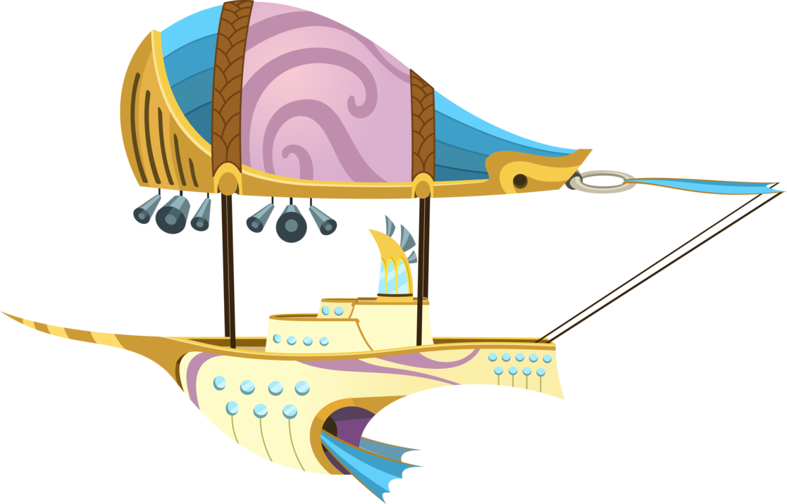 Zeppelin drawing boat. Twilight s by parcly