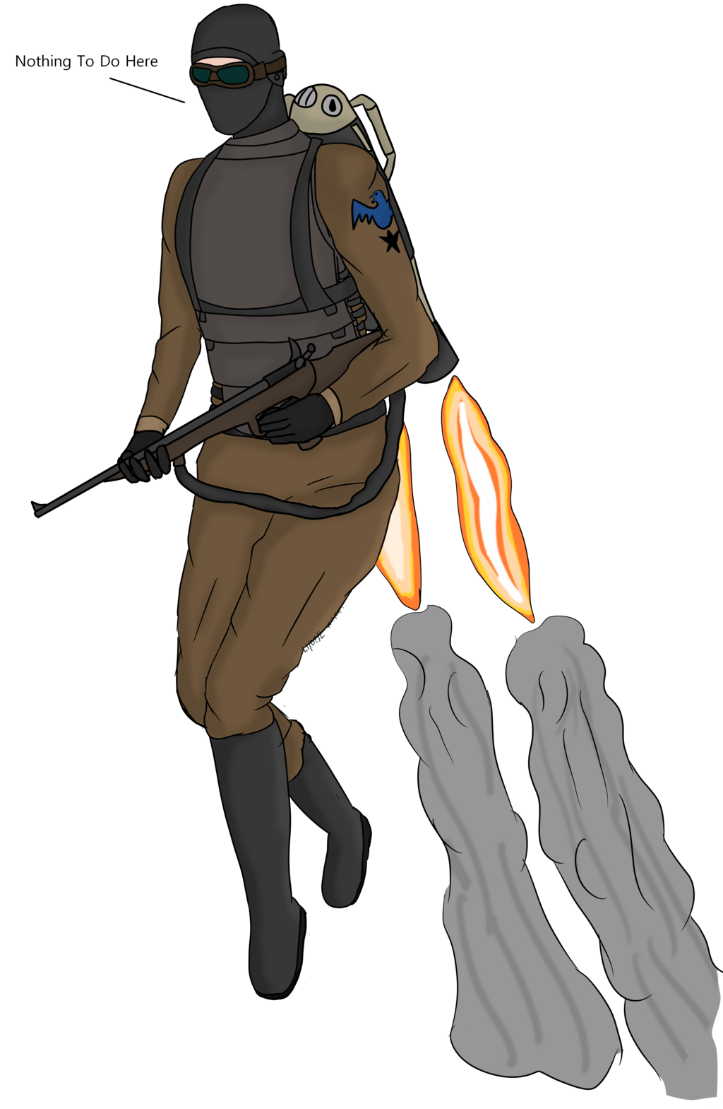 Airship drawing fictional. Jump trooper concept by