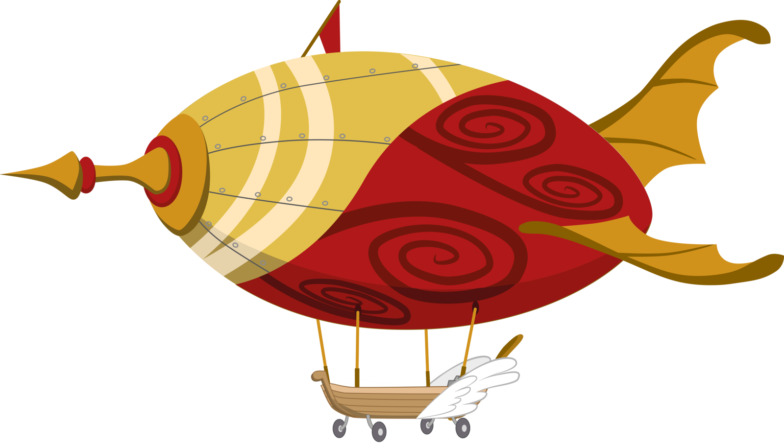 Airship drawing fire. Vector google search svg