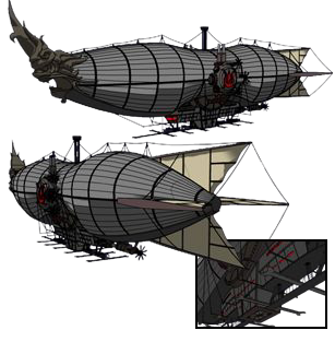 Airship drawing fire. The lost lore of