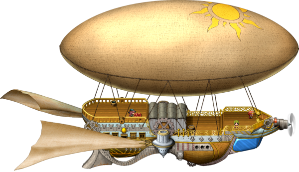 Airship drawing ghost. Looking for vehicles worldmap