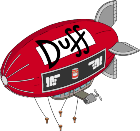 Airship drawing medieval. Duff blimp wikisimpsons the