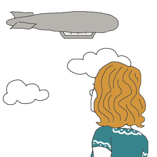 Zeppelin drawing airship. Zepplin dream dictionary interpret