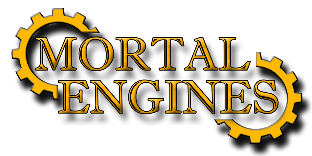 Airship drawing mortal engine. Engines title graphic by