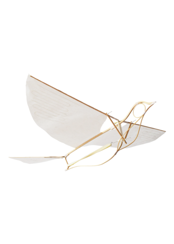 Icarus drawing flying machine. Paper ornithopter machines leonardo