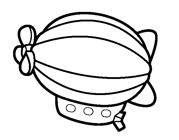 Airship drawing painting. Coloring page coloringcrew com
