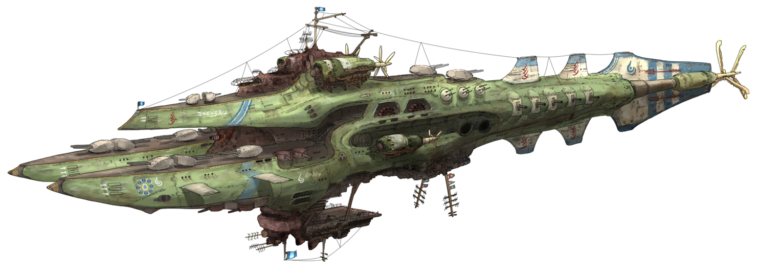 Airship drawing sci fi. Th fleet flagship