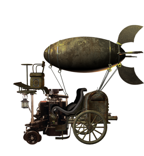 Airship drawing victorian. Flying machine by mysticmorning