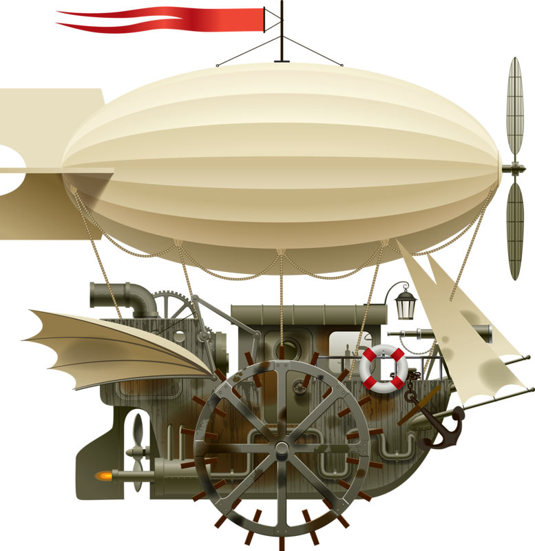 Airship drawing victorian. Png d