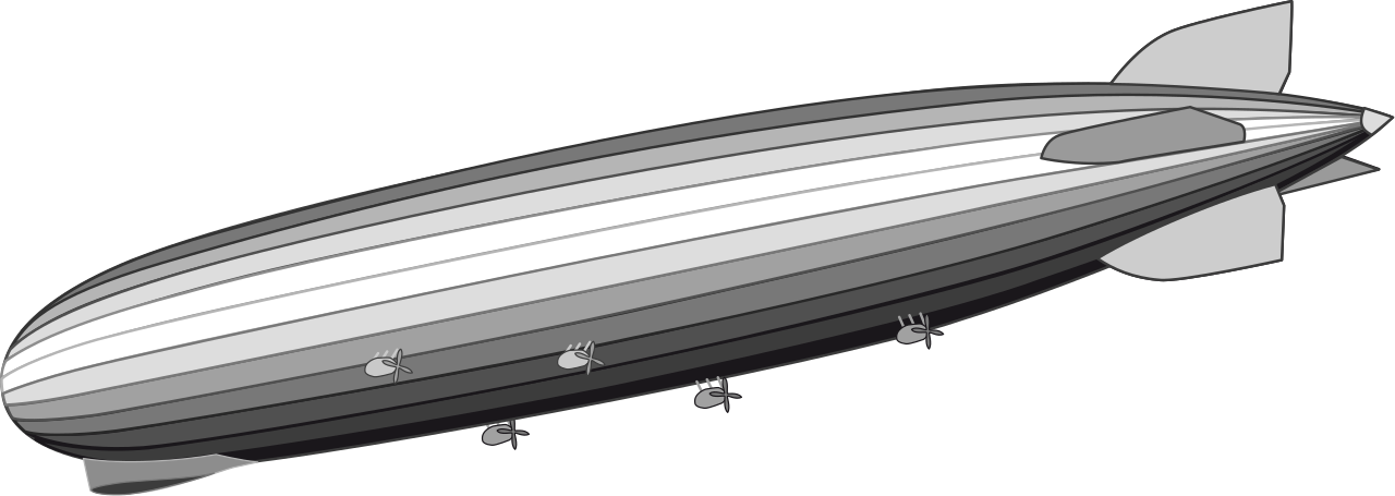 Zeppelin drawing airship. File lz svg wikipedia